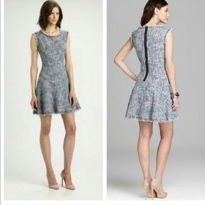 Rebecca Taylor blue tweed dress